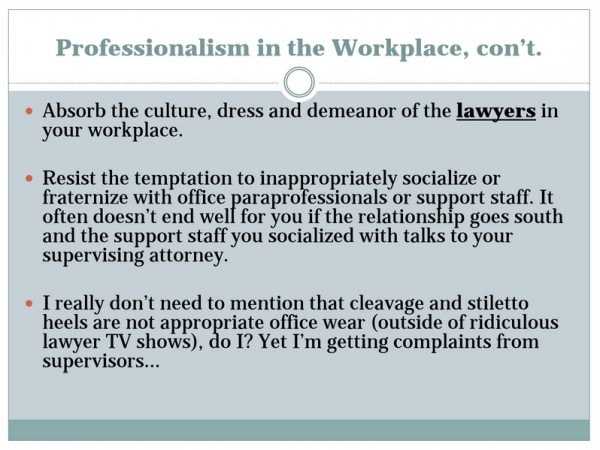 Law Courts Center Recruitment Services  Professionalism In The Workplace